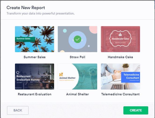 Create Report Sample Report Template