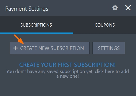 Create New Subscription