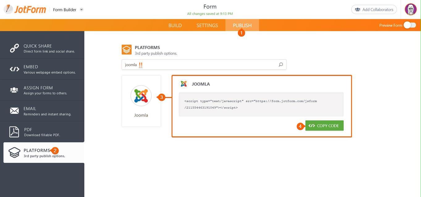 Platforms Joomla