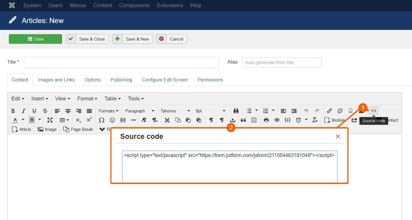 Joomla Source Code