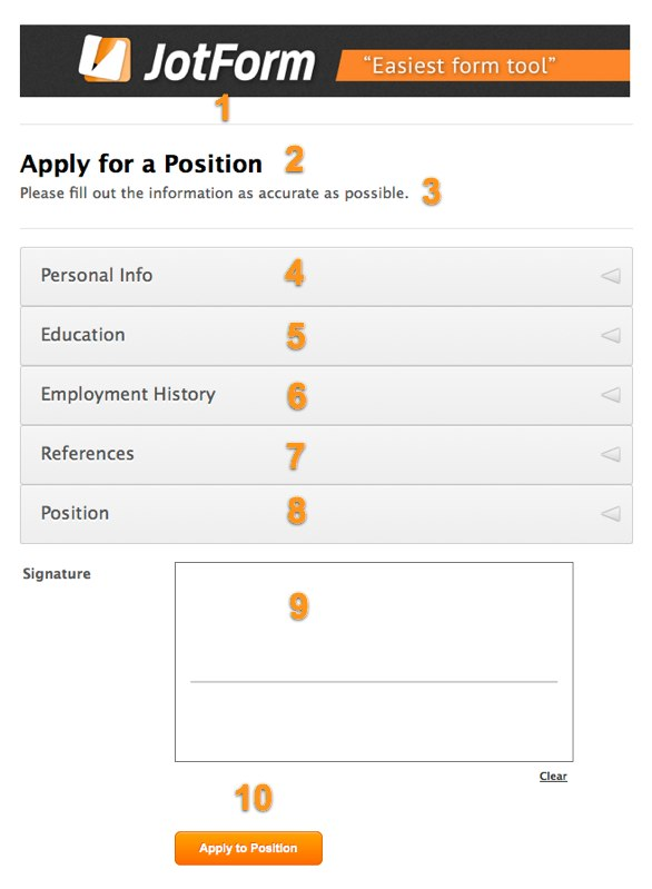Job Application Form   Jotform