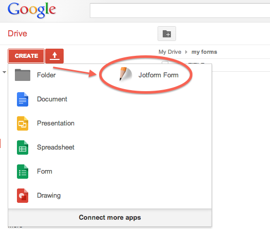 jotform google drive app. Black Bedroom Furniture Sets. Home Design Ideas