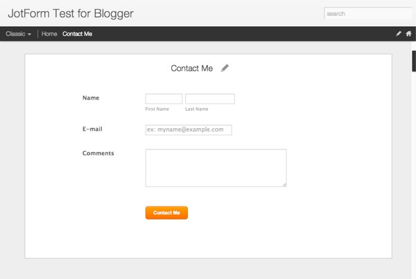 view form in blogger