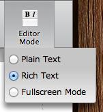 textarea editor modes