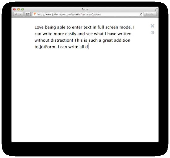 textarea fullscreen