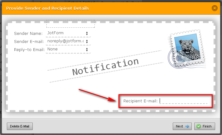 How do I change email address(es) to whom a form is sent when ...