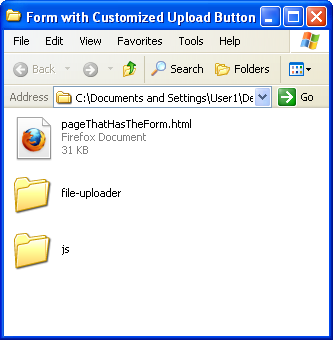 how to change gravity forms upload button