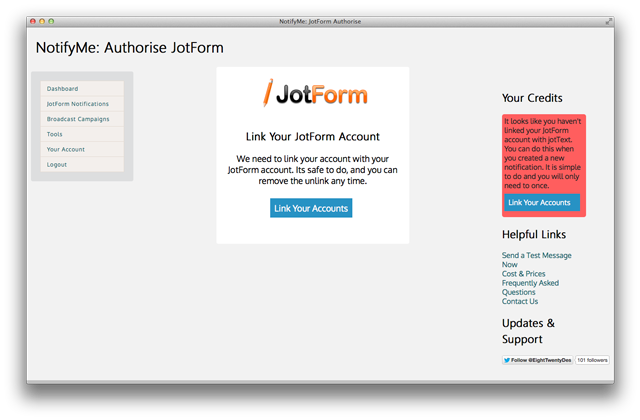jottext link account 2
