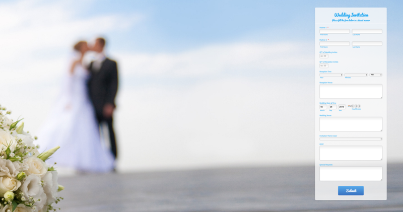 Create custom wedding invitations with JotForm – Custom Wedding Invitations Online