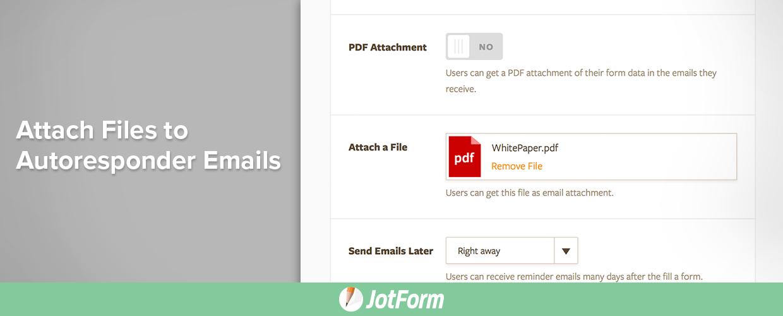 attach files to autoresponder emails
