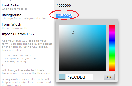 How to change the background color of the header box for Html code to change background color of page