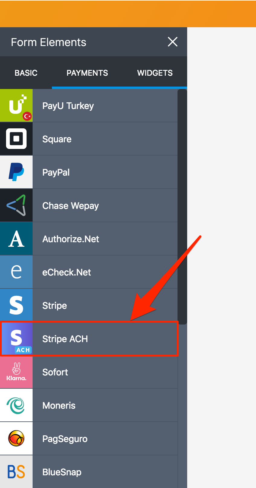 How to integrate Stripe ACH to your form?