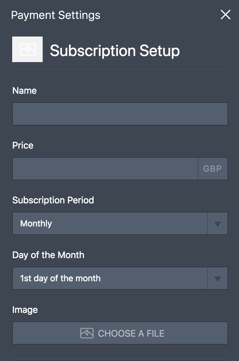 gocardless subscription settings