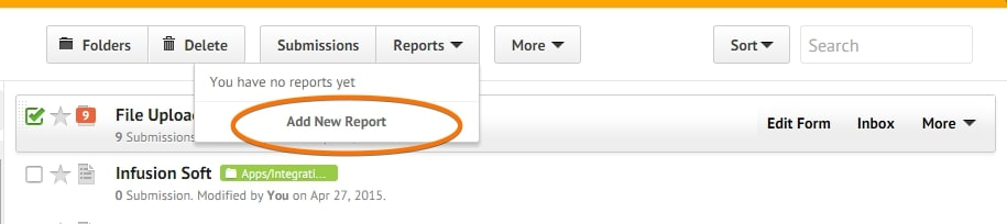 Addding New Report Button