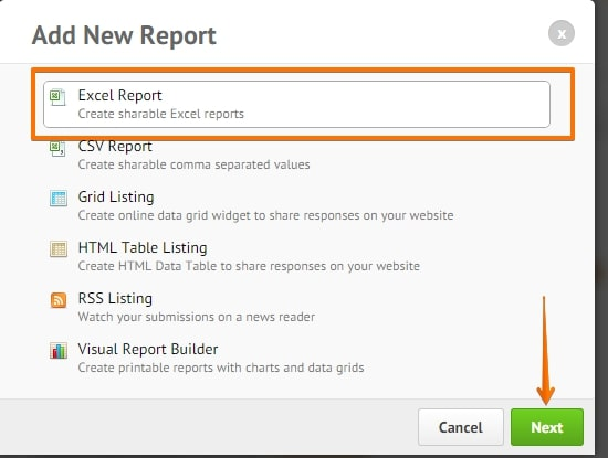 add excel report