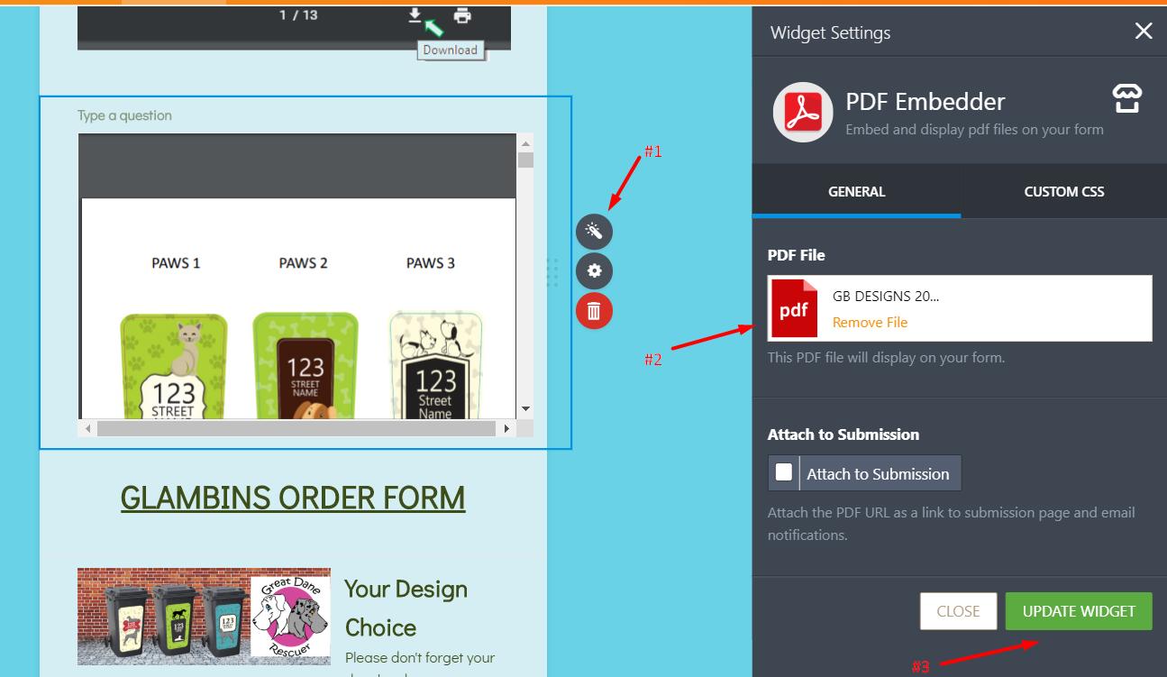 PDF Embedder : File shows incorrect name