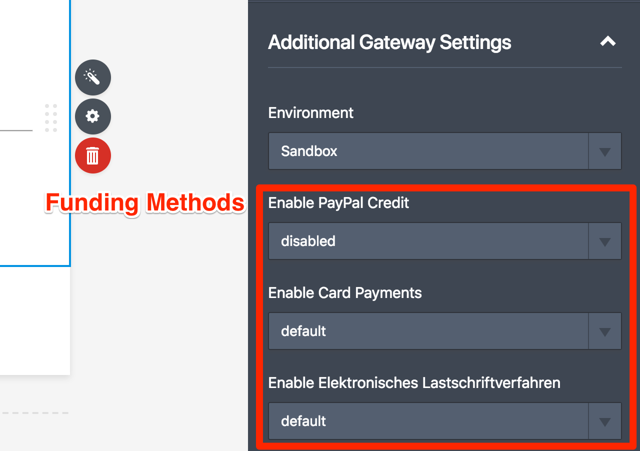 PayPal Checkout Funding Methods