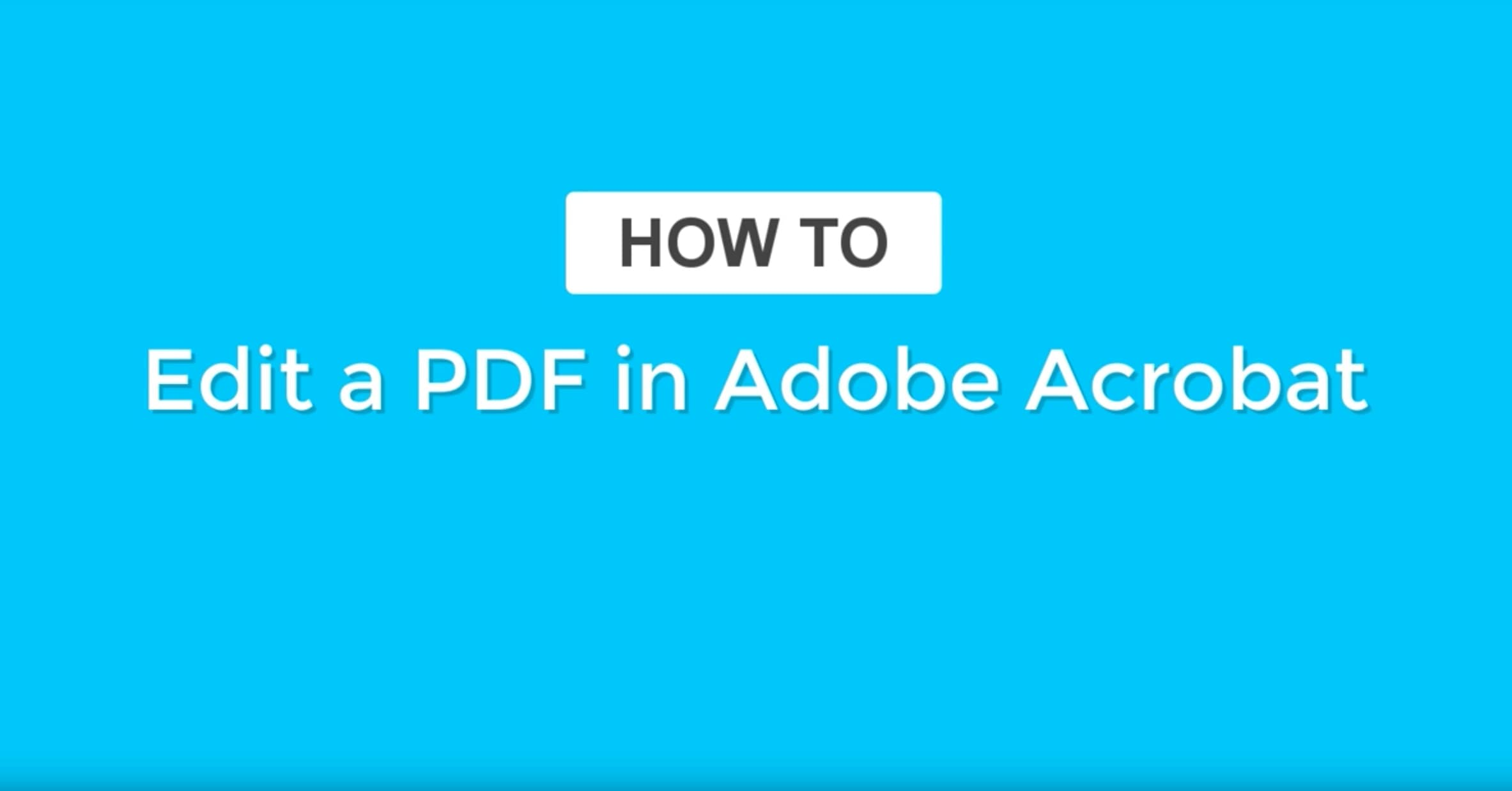 How to Edit a PDF | PDF Editor