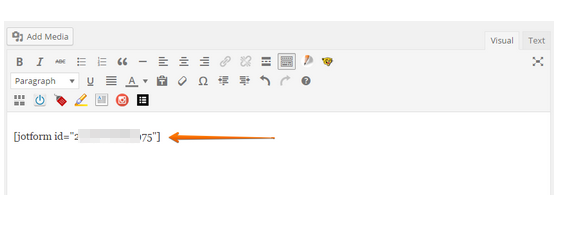 Loading icon with Wordpress embedded JotForm