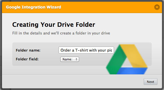 Auto upload of files to Google drive