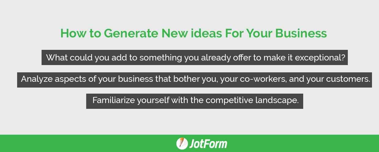 Ways Of Generating Business Ideas