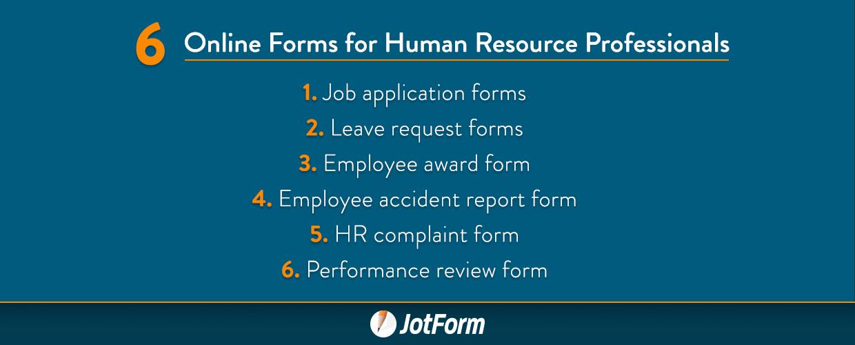 Online Forms For Human Resource Professionals  Jotform