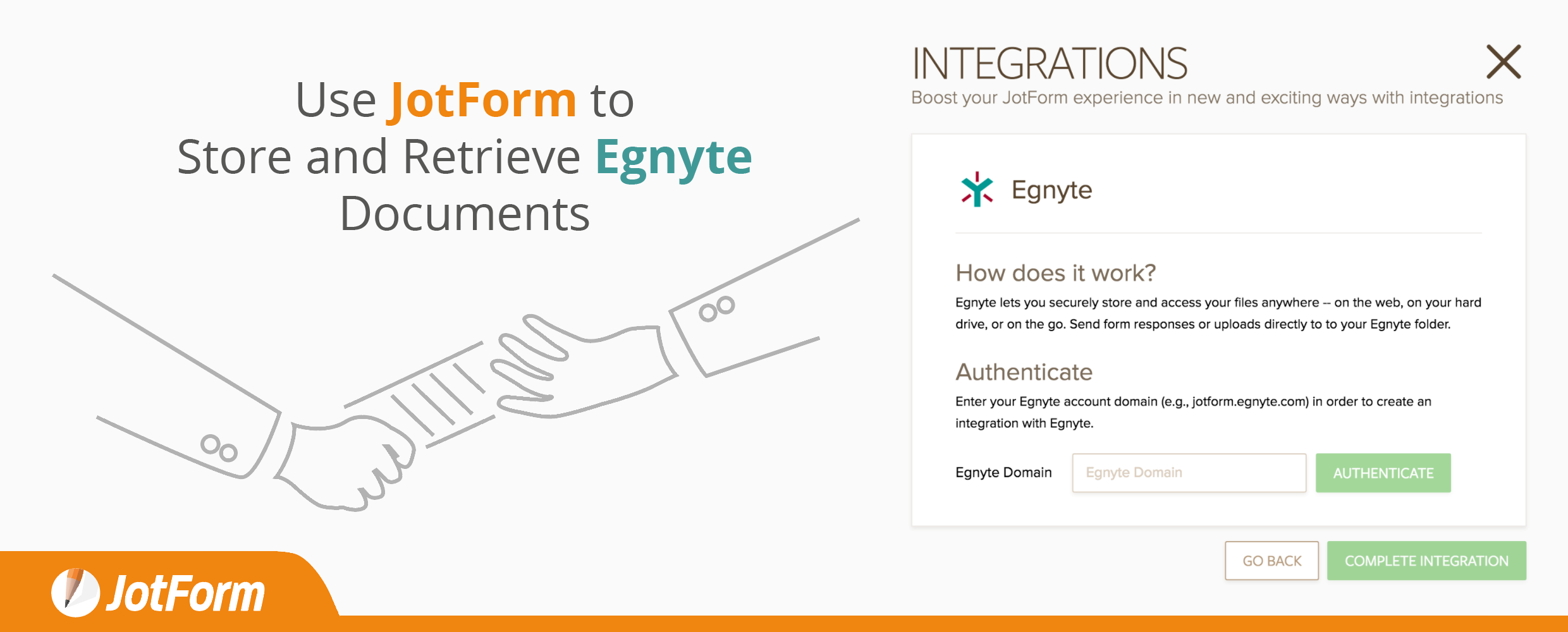 jotform and egnyte