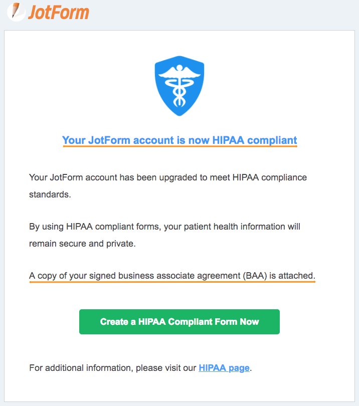 How to upgrade to HIPAA Compliance?